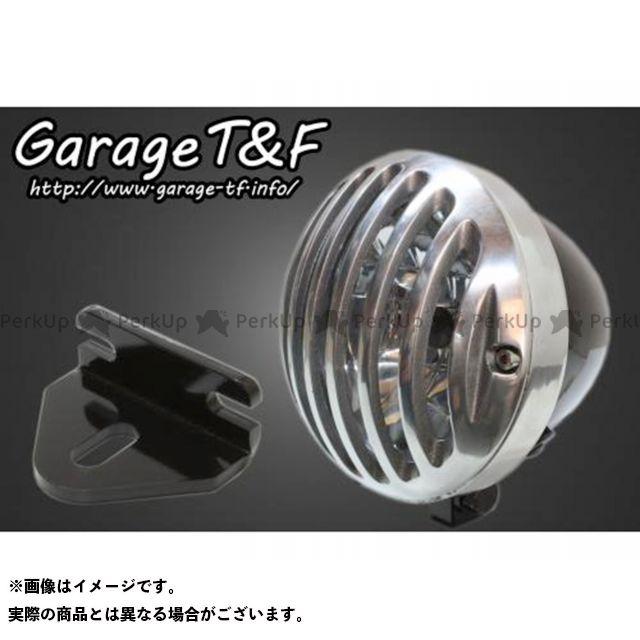 ガレージTF ガレージティーアンドエフ ヘッドライト・バルブ 電装品 ガレージTF 250TR 4.5インチバードゲージヘッドライト&ライトステー(タイプE)キット ブラック ポリッシュ ガレージティーアンドエフ