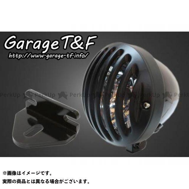 ガレージTF ガレージティーアンドエフ ヘッドライト・バルブ 電装品 ガレージTF 250TR 4.5インチバードゲージヘッドライト&ライトステー(タイプE)キット ブラック ブラック ガレージティーアンドエフ