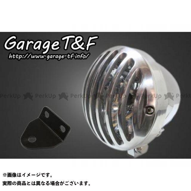 ガレージT&F SR400 4.5インチバードゲージヘッドライト&ライトステー(タイプC)キット ヘッドライト:メッキ ゲージ:ポリッシュ ガレージティーアンドエフ