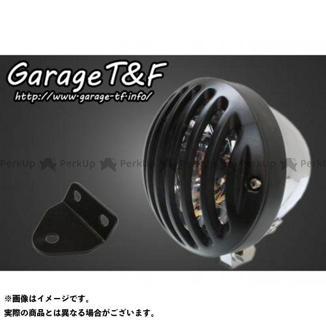 ガレージTF ガレージティーアンドエフ ヘッドライト・バルブ 電装品 ガレージTF SR400 4.5インチバードゲージヘッドライト&ライトステー(タイプC)キット メッキ ブラック ガレージティーアンドエフ