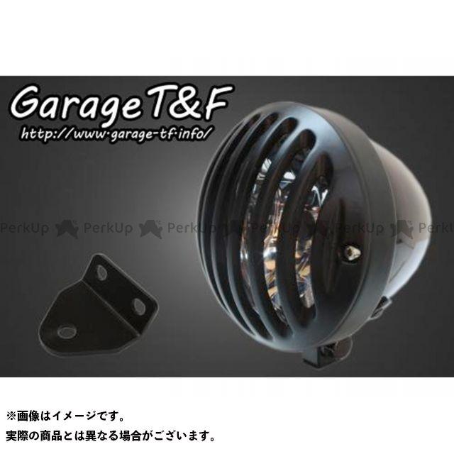 ガレージTF ガレージティーアンドエフ ヘッドライト・バルブ 電装品 ガレージTF SR400 4.5インチバードゲージヘッドライト&ライトステー(タイプC)キット ブラック ブラック ガレージティーアンドエフ