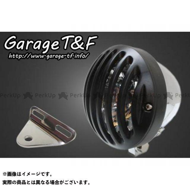 ガレージT&F スティード400 4.5インチバードゲージヘッドライト&ライトステー(タイプA)キット ヘッドライト:メッキ ゲージ:ブラック ガレージティーアンドエフ
