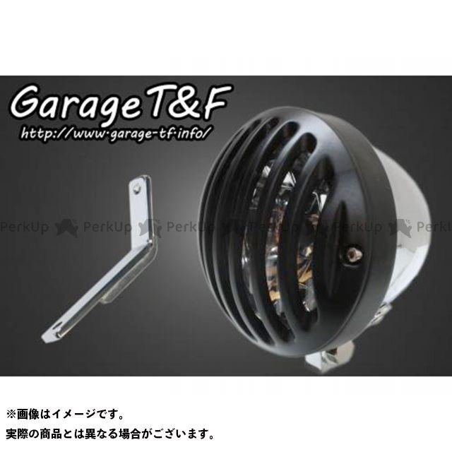 ガレージTF ガレージティーアンドエフ ヘッドライト・バルブ 電装品 ガレージTF スティード400 4.5インチバードゲージヘッドライト&ライトステー(タイプD)キット メッキ ブラック ガレージティーアンドエフ