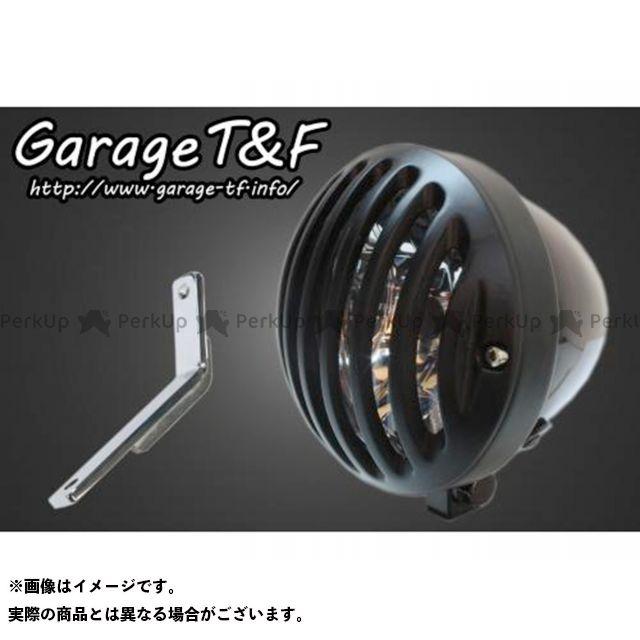 ガレージT&F スティード400 4.5インチバードゲージヘッドライト&ライトステー(タイプD)キット ヘッドライト:ブラック ゲージ:ブラック ガレージティーアンドエフ