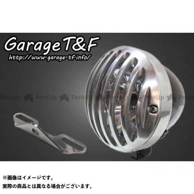 ガレージT&F イントルーダークラシック400 4.5インチバードゲージヘッドライト&ライトステー(タイプB)キット ヘッドライト:ブラック ゲージ:ポリッシュ ガレージティーアンドエフ