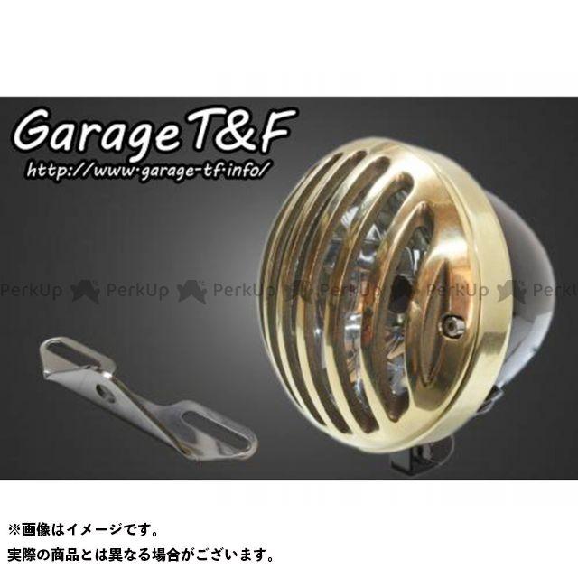 ガレージTF ガレージティーアンドエフ ヘッドライト・バルブ 電装品 ガレージTF イントルーダークラシック400 4.5インチバードゲージヘッドライト&ライトステー(タイプB)キット ブラック 真鍮 ガレージティーアンドエフ