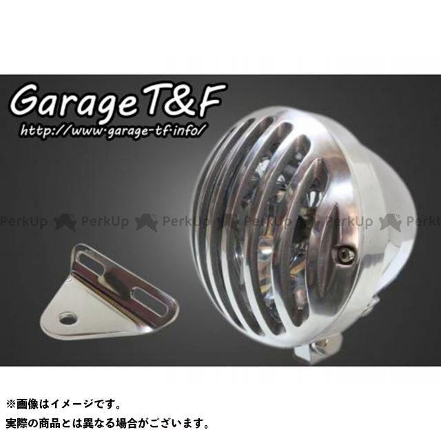 ガレージT&F バルカン400 バルカン400-2 4.5インチバードゲージヘッドライト&ライトステー(タイプA)キット ヘッドライト:メッキ ゲージ:ポリッシュ ガレージティーアンドエフ