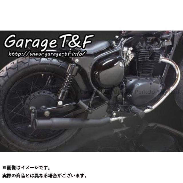 ガレージT&F エストレヤ アップトランペットマフラー スリップオンタイプ ブラック