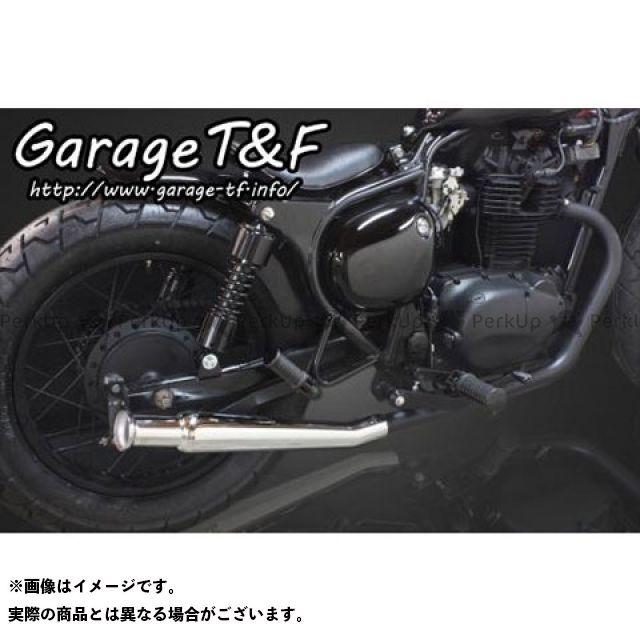 ガレージT&F エストレヤ アップトランペットマフラー フルエキタイプ(ブラック) メッキ