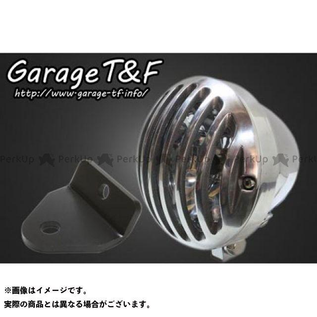 ガレージTF ガレージティーアンドエフ ヘッドライト・バルブ 電装品 ガレージTF マグナ50 4.5インチバードゲージヘッドライト&ライトステー(タイプH)キット メッキ ポリッシュ ガレージティーアンドエフ