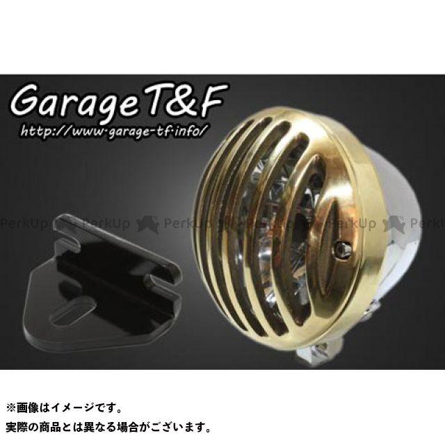 ガレージTF ガレージティーアンドエフ ヘッドライト・バルブ 電装品 ガレージTF W650 4.5インチバードゲージヘッドライト&ライトステー(タイプE)キット メッキ 真鍮 ガレージティーアンドエフ