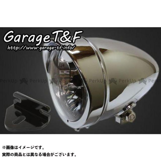 ガレージT&F W650 4.5インチロケットライト&ライトステー(タイプE)キット カラー:メッキ ガレージティーアンドエフ