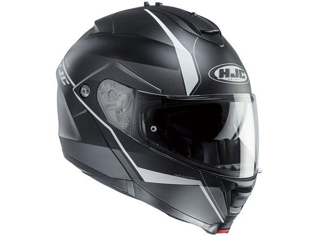 送料無料 HJC エイチジェイシー システムヘルメット(フリップアップ) HJH101 IS-MAX2 マイン ブラック/ホワイト S/55-56cm