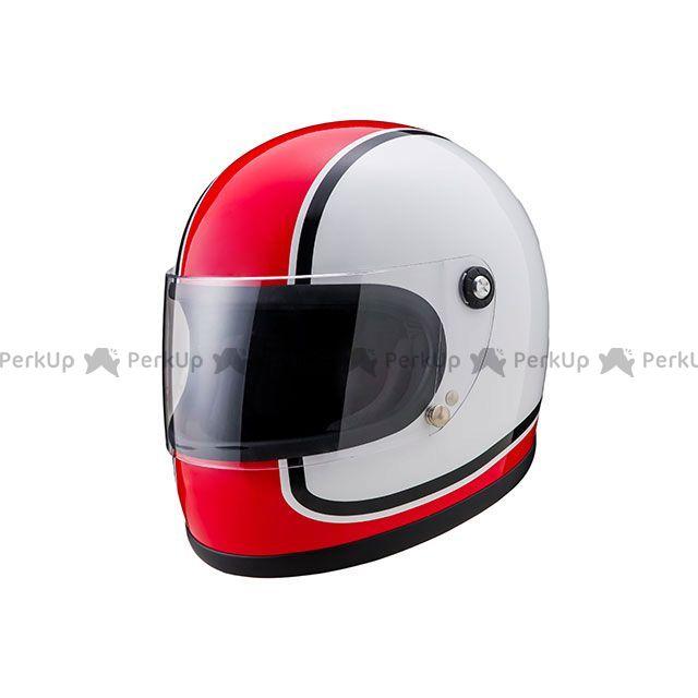 送料無料 山城謹製 ヤマシロキンセイ フルフェイスヘルメット ニュー レトロ フルフェイスヘルメット 内装脱着式 オールドスタイルレーサーデザイン 750赤 L