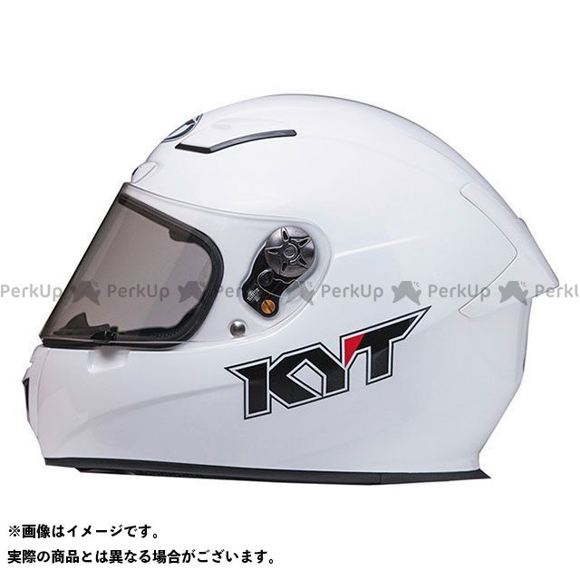 KYT KR-1 【日本上陸2周年記念特価】 ホワイトソリッド XL/61-62cm ケーワイティー