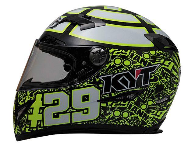送料無料 KYT ケーワイティー フルフェイスヘルメット C5 アンドレア・イアンノーネ レプリカ ブラック XL/61-62cm