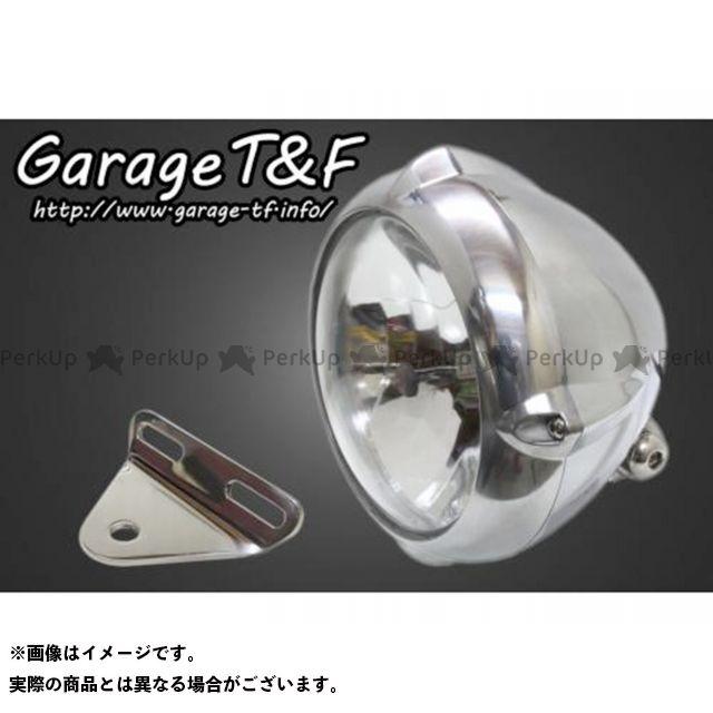 ガレージT&F バルカン400 バルカン400-2 5.75インチビンテージライト&ライトステー(タイプA)キット カラー:ポリッシュ ガレージティーアンドエフ