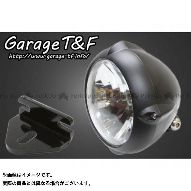 ガレージT&F 250TR 5.75インチビンテージライト(ブラック)&ライトステー(タイプE)キット カラー:ブラック ガレージティーアンドエフ