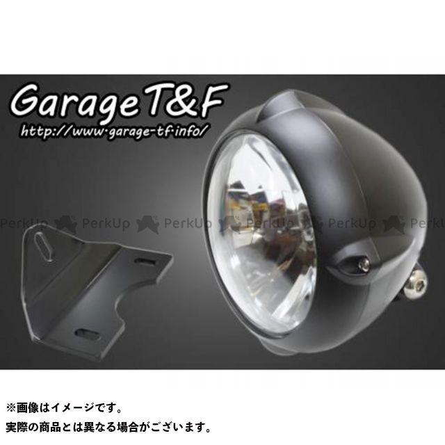 ガレージT&F エストレヤ 5.75インチビンテージライト(ブラック)&ライトステー(タイプG)キット カラー:ブラック ガレージティーアンドエフ