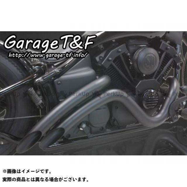 ガレージT&F ドラッグスター400(DS4) ドラッグスタークラシック400(DSC4) ベントマフラー タイプ2 マフラー:ブラック 年式:2009年以降(インジェクション仕様) ガレージティーアンドエフ