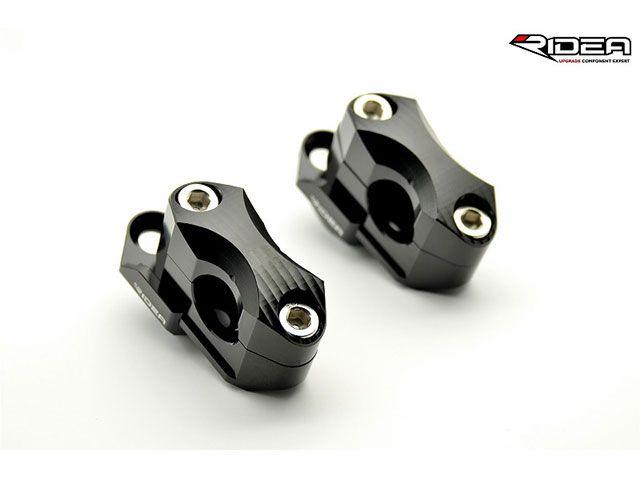 送料無料 リデア 汎用 ハンドルポスト関連パーツ ハンドルバーライザー 5ポジション ブラック