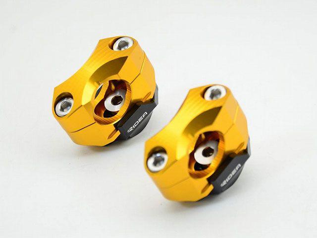 送料無料 リデア 汎用 ハンドルポスト関連パーツ ハンドルバーライザー 5ポジション テーパーハンドル(φ28.6)用 ゴールド