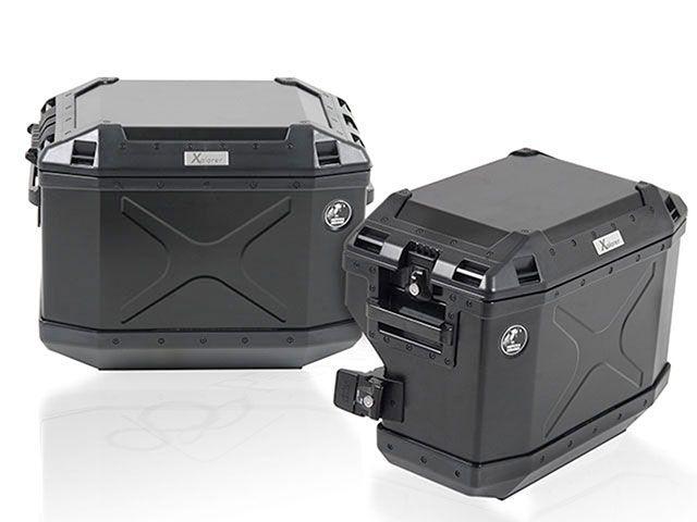 送料無料 ヘプコアンドベッカー 1190アドベンチャー ツーリング用バッグ サイドケースホルダー+Xplorer(Cutout)セット ブラック