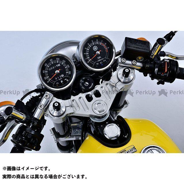 オーバーレーシング SR400 ステム&スポーツライディングハンドルキット(シルバー) OVER RACING
