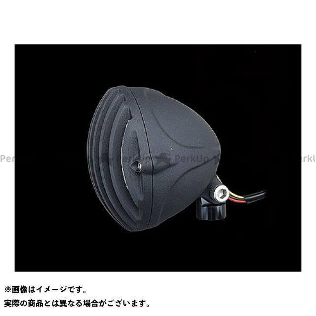 ネオファクトリー ハーレー汎用 4-1/2in バードケージLEDヘッドライト カラー:マットブラック ネオファク