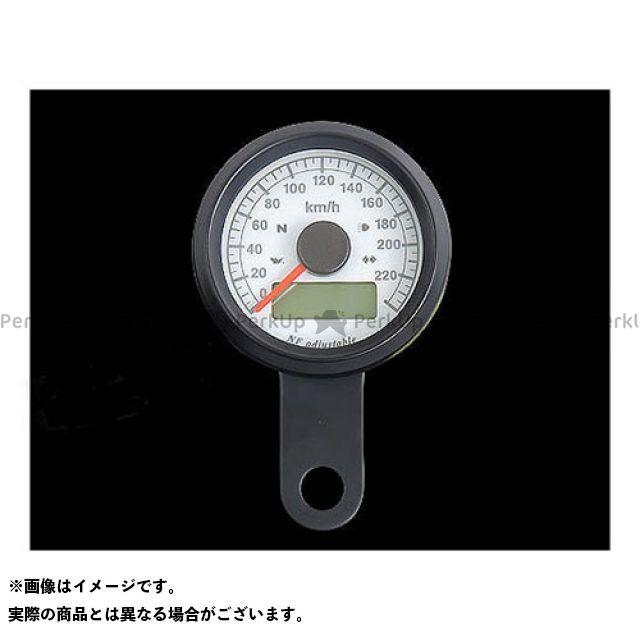 ネオファクトリー ハーレー汎用 48mm インジケーター付きスピードメーター ボディ:ブラック 文字盤:白盤 バックLED:白光 ネオファク