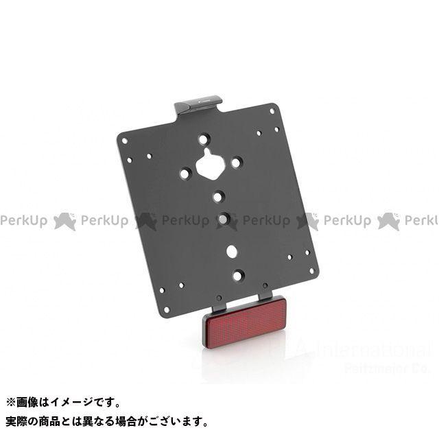 【エントリーで最大P21倍】リゾマ FLS ソフテイルスリム ライセンスプレートベース(ブラック) サイズ:186×146mm RIZOMA