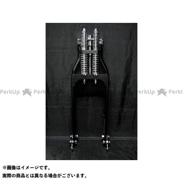 部品屋K&W ハーレー汎用 フロントフォーク スプリンガーフォーク ブラック2インチ