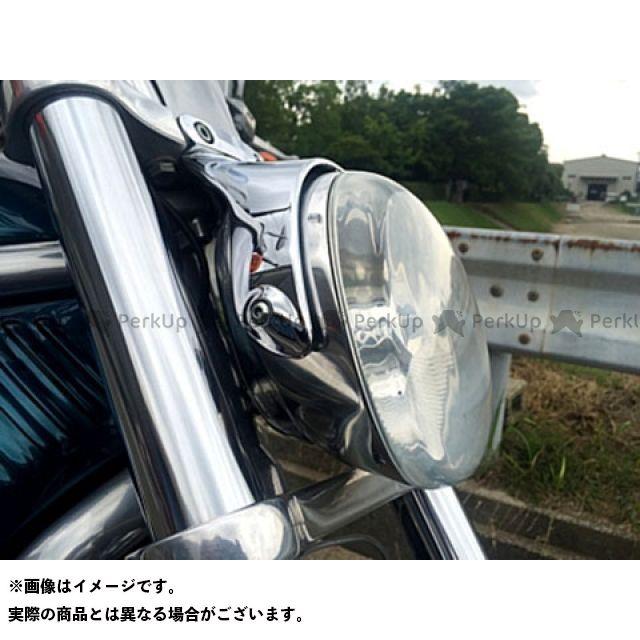 部品屋K&W Vロッドファミリー汎用 V-ROD 純正ヘッドライト(日本仕様)用アルミボディ ブヒンヤケーアンドダブリュー