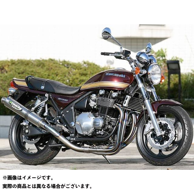 ストライカー ゼファー1100 STREET CONCEPT フルエキゾースト&ステップセット ステップ:シルバー サイレンサー:チタンヒートカラー STRIKER