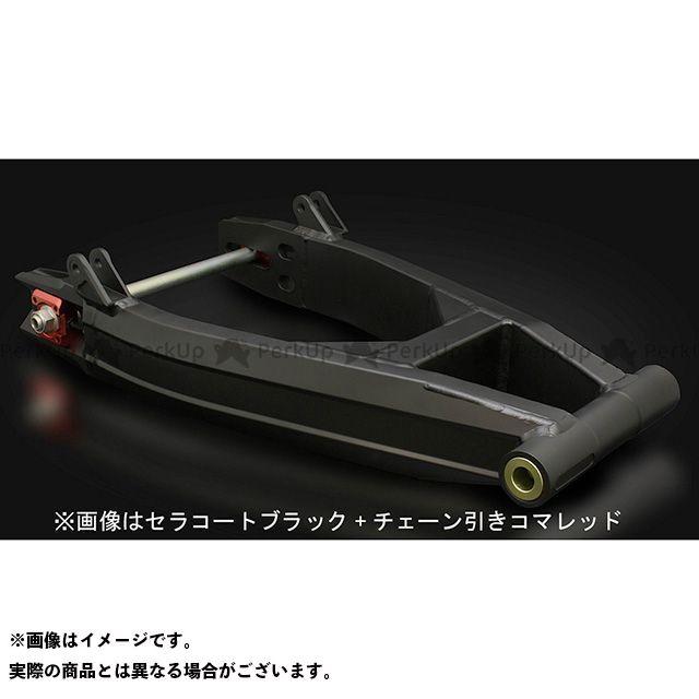 ストライカー ゼファー1100 G-STRIKER スイングアーム 表面仕上げ:セラコートブラック アジャスター部:レッドアルマイト STRIKER