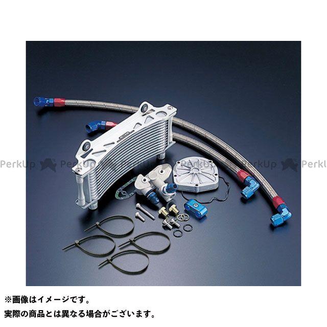 アクティブ GSX1100Sカタナ オイルクーラー オイルクーラーキット(サイド廻し) ラウンド #6 9-10R サーモ対応キット シルバー