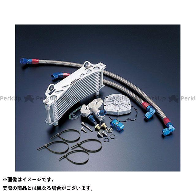 アクティブ GSX1100Sカタナ オイルクーラー オイルクーラーキット(サイド廻し) ラウンド #8 9-10R サーモ対応キット シルバー