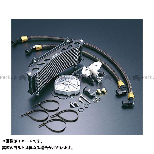 アクティブ GSX1100Sカタナ オイルクーラーキット(サイド廻し) ラウンド #6 9-13R サーモ対応キット カラー:ブラック ACTIVE