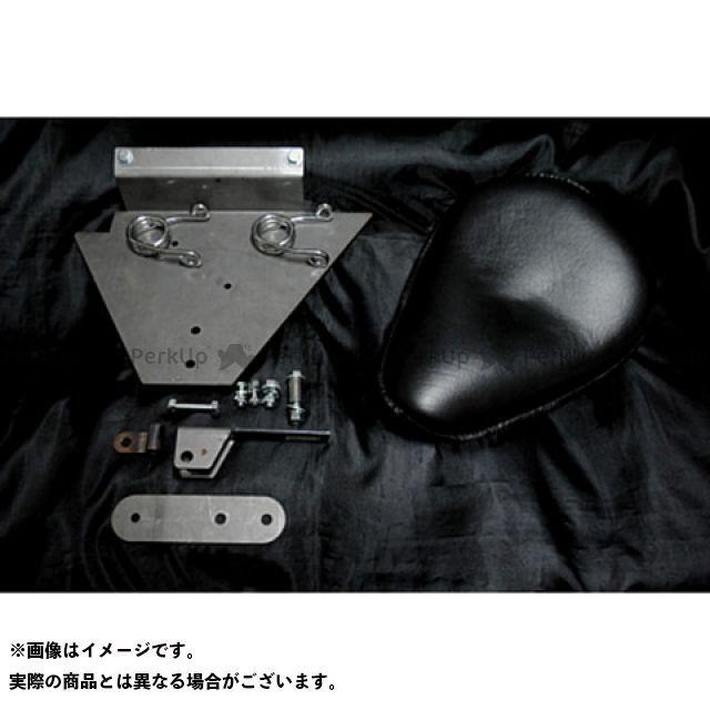 部品屋K&W ドラッグスター1100(DS11) DS1100専用ソロシートKIT スプリングタイプ(本革サドルシート) 黒 ブヒンヤケーアンドダブリュー