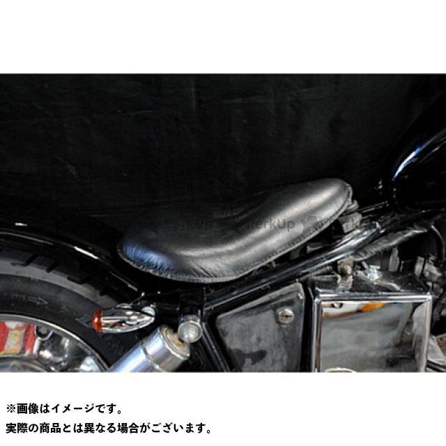 部品屋K&W ジャズ JAZZ50 フラットフェンダー用ソロシートKIT(本革サドルシート) カラー:黒 ブヒンヤケーアンドダブリュー