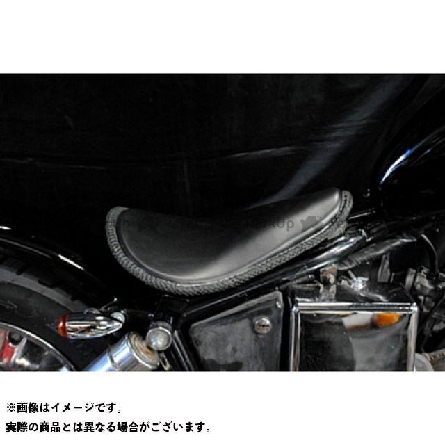 【エントリーで更にP5倍】部品屋K&W ジャズ JAZZ50 フラットフェンダー用ソロシートKIT(本革レース編み込みサドルシート) カラー:黒 ブヒンヤケーアンドダブリュー