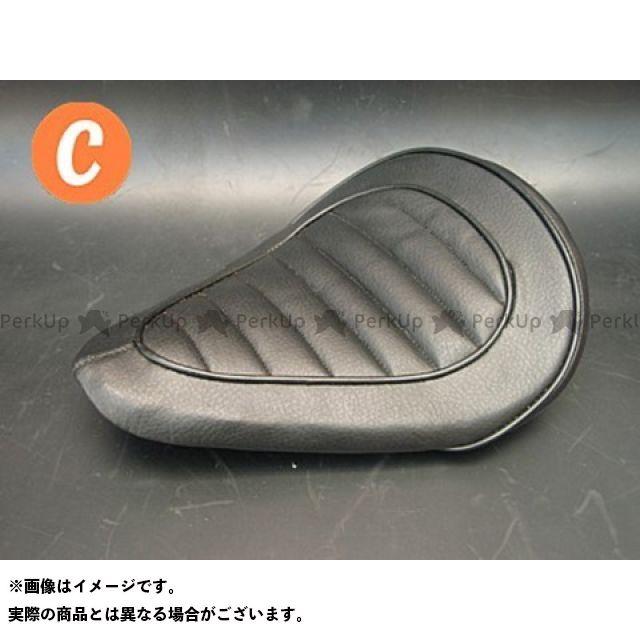 部品屋K&W 250TR 専用ソロシートKIT リジットタイプ(ステッチ) Cタイプ 黒