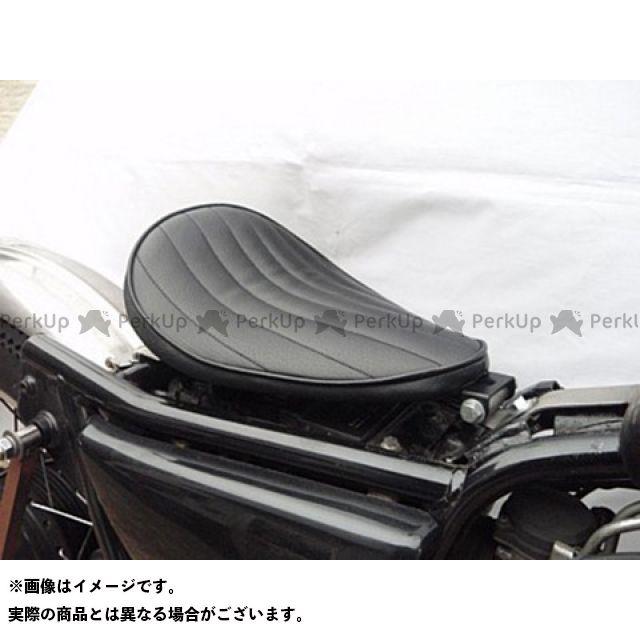 部品屋K&W 250TR 専用ソロシートKIT リジットタイプ(ステッチ) Eタイプ 白