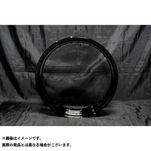 部品屋K&W FTR223 16in リアホイールKIT 鉄リム 仕様:黒 ブヒンヤケーアンドダブリュー