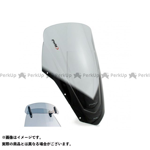 プーチ FZ6フェザーS2 スクリーン関連パーツ ツーリングスクリーン バイザー付(スモーク)