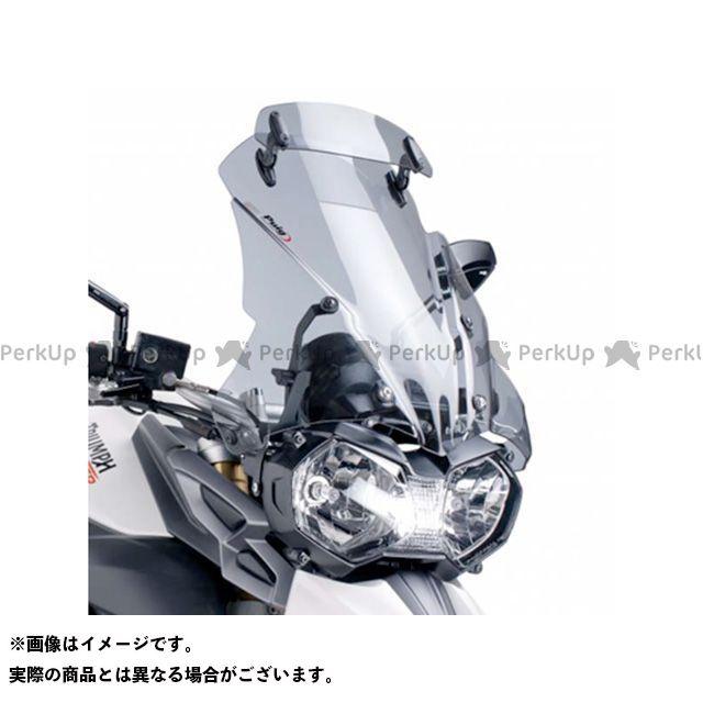 プーチ タイガー800 スクリーン関連パーツ ツーリングスクリーン バイザー付(スモーク)