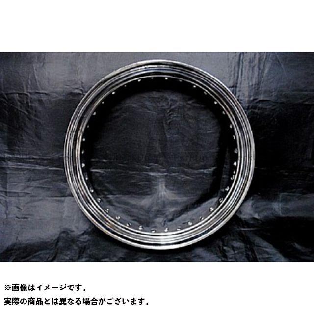 部品屋K&W エストレヤ 16in鉄リム リアホイールKIT(ドラム用) 仕様:メッキ ブヒンヤケーアンドダブリュー