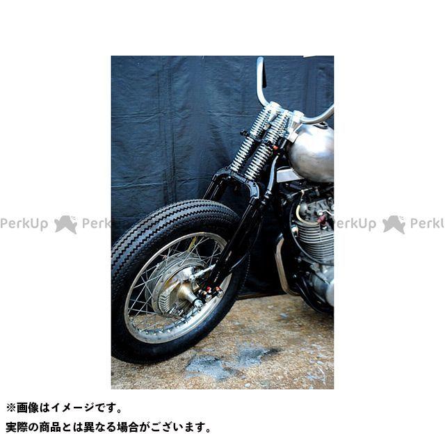 部品屋K&W SR400 SR500 フロントフォーク SR用74スプリンガーフォークKIT ドラム用 ブラック