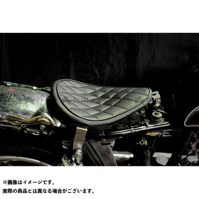 部品屋K&W SR400 SR500 専用ソロシートKIT リジットタイプ(ステッチ) タイプ:ダイヤ カラー:白 ブヒンヤケーアンドダブリュー