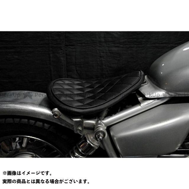 部品屋K&W マグナ50 Magna50用 フラットフェンダー対応ソロシートKIT リジットタイプ(ステッチ) ダイヤ 白 ブヒンヤケーアンドダブリュー